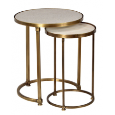 Round Marble Nesting Tables