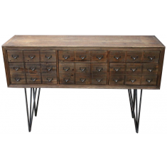 Apothecary Six Drawer Console