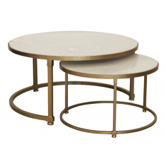 Marco Marble Nesting Coffee Tables